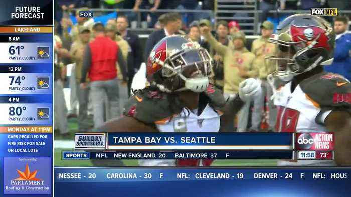 Russell Wilson Throws 5 TDs, Seattle Seahawks outlast Tampa Bay Buccaneers 40-34 in overtime
