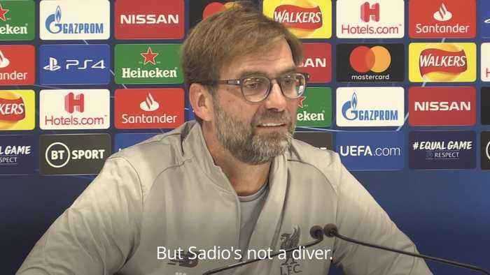 Sadio Mane is not a diver – Liverpool boss Jurgen Klopp