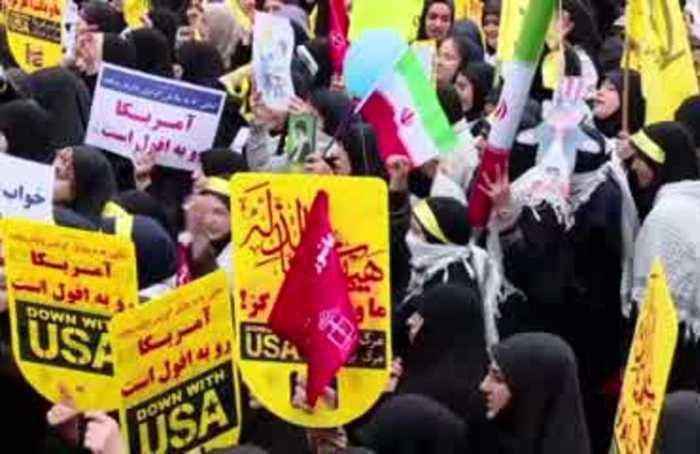 Iranians celebrate U.S. embassy seizure anniversary