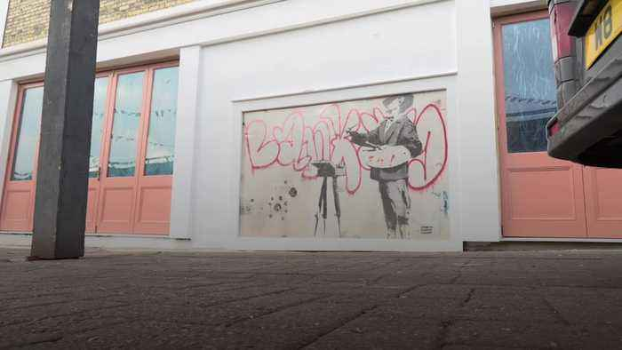 Banksy mural, previously hidden, is rediscovered