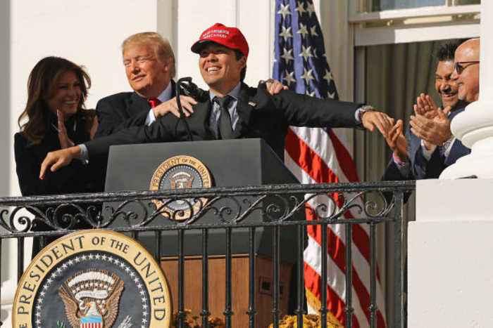 Kurt Suzuki Criticized for Wearing 'MAGA' Hat During White House Visit
