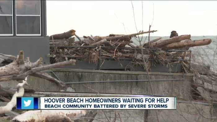 Hoover Beach homeowners still waiting for help following storm