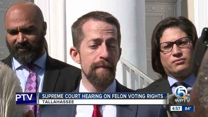 Florida high court hears arguments on felon voting rights