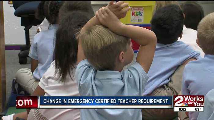 Change in emergency certified teacher requirement