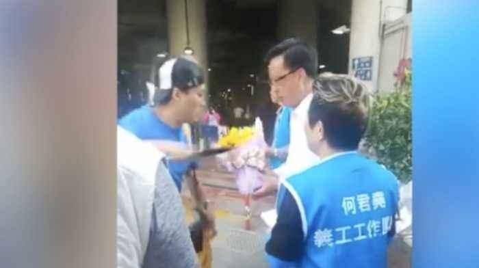 Video captures Hong Kong lawmaker stabbing