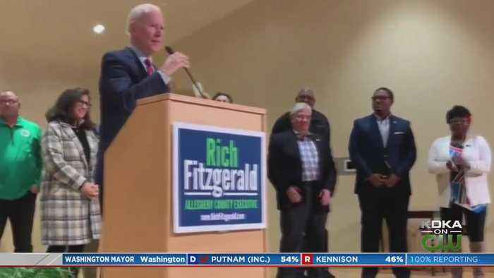 Former VP Biden Makes Surprise Appearance At Fitzgerald Victory Party