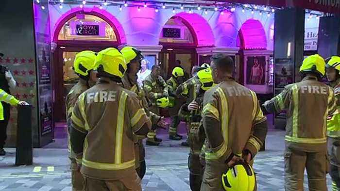 Ceiling at London Theatre Collapses