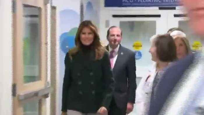 Melania Trump receives warm welcome at Boston Medical Center