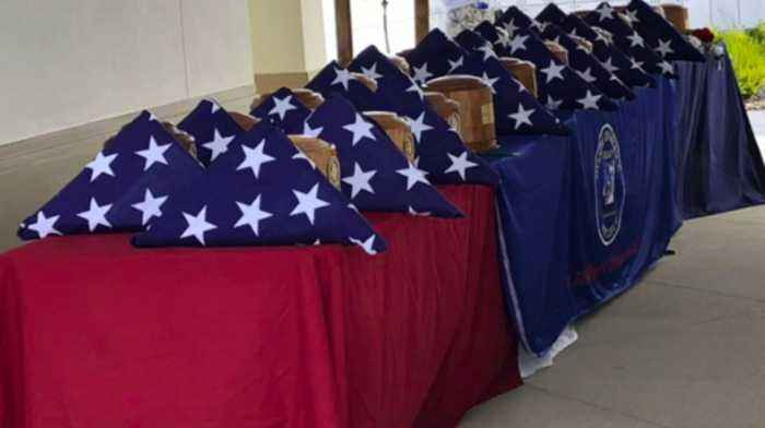 Cremated remains of unclaimed veterans buried at the South Florida National Cemetery