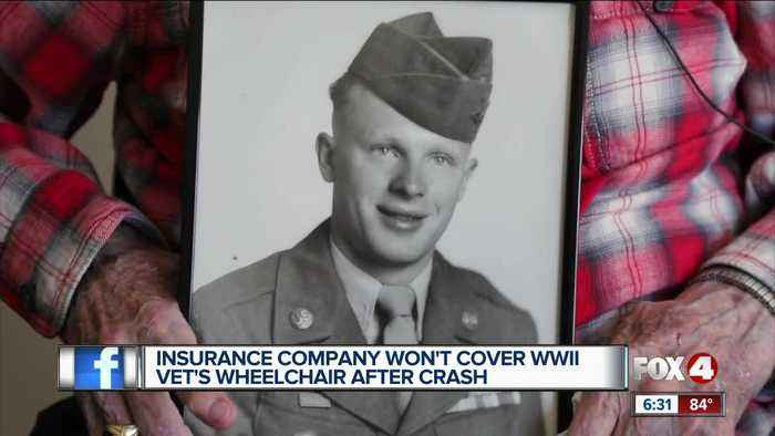 Insurance company denies coverage for World War II Veteran's electric wheelchair