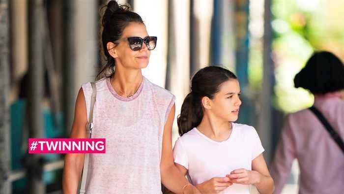 Katie Holmes are daughter Suri are workout buddies