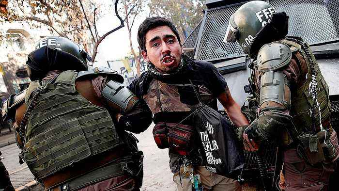 Chile's Pinera fends off police abuse claims amid fresh clashes