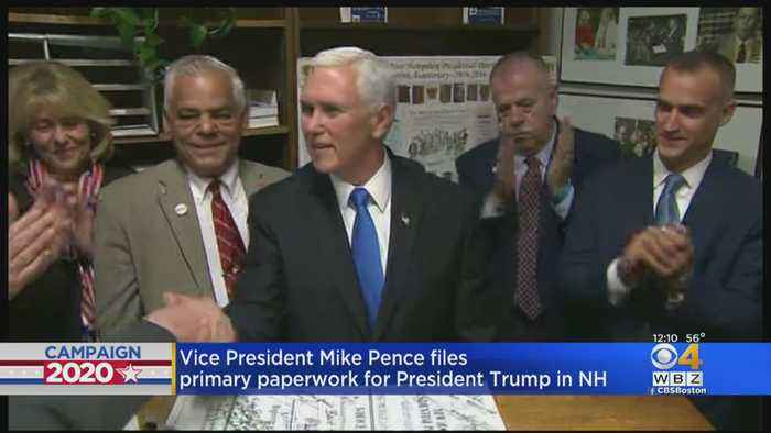 Mike Pence Files President Trump's Papers For New Hampshire Primary