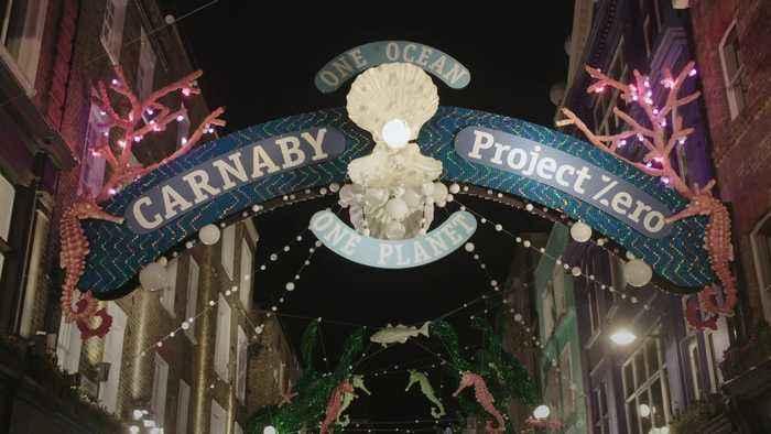 Ronnie Wood turns on Carnaby Street's Christmas lights display