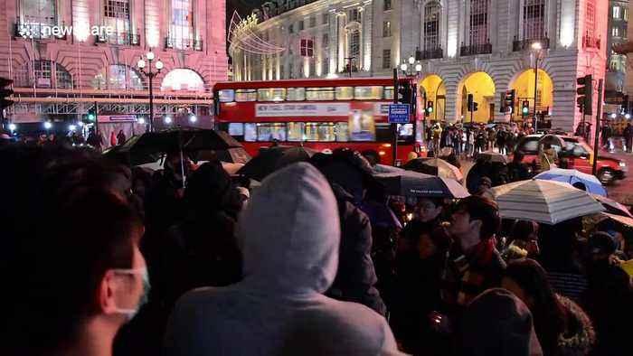 Londoners pay respects to slain Hong Kong student Chow Tsz-Lok
