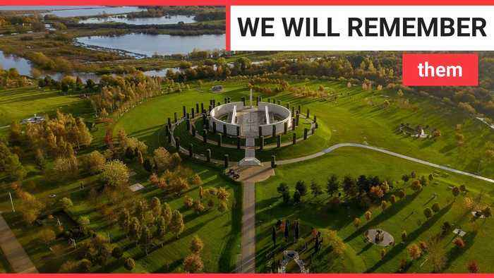 Amazing aerial views of the National Memorial Arboretum in Derbyshire
