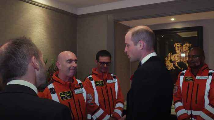 William praises air ambulance crews at charity reception