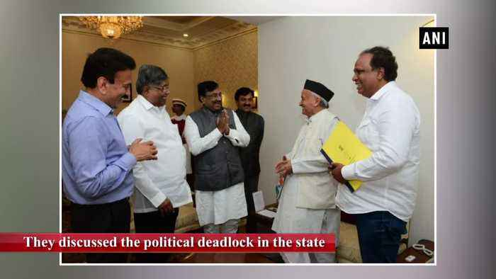 BJP delegation meets Maharashtra Governor discusses political deadlock in state
