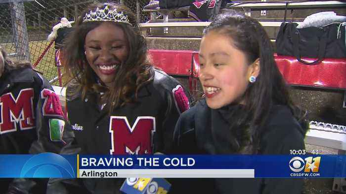 Fans Of All Sorts Brave Cold Weather For Concert, Football