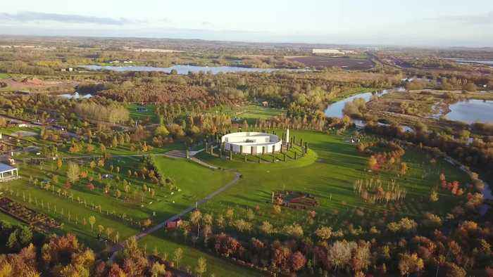 Amazing aerial views of the National Memorial Arboretum in Derbyshire where preparations are underway ahead of this weekends Rem