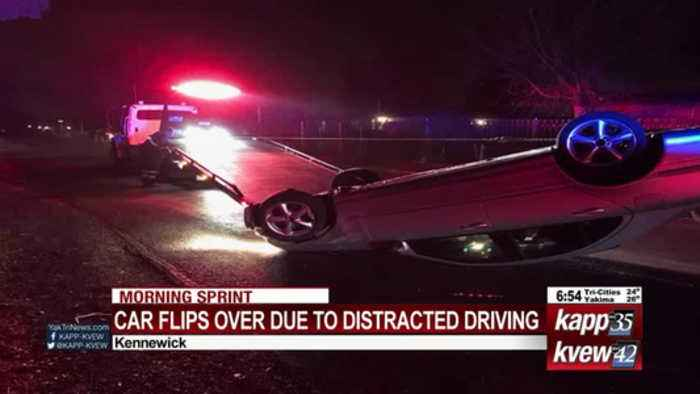KPD: Car crashes, rolls in Kennewick as driver checks GPS