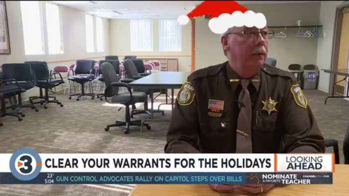 Sheriff offers holiday deal to clear nearly 500 outstanding warrants CLIP