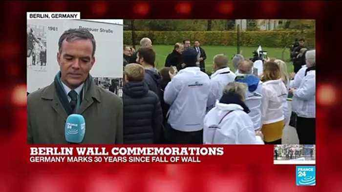 Berlin Wall commemorations: 'It's a day for imagining what kind of future Germans want'