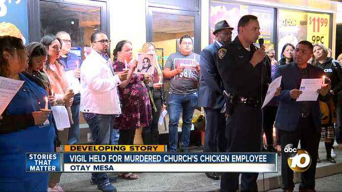 Vigil held for murdered Church's Chicken employee