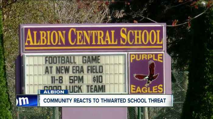 Community reacts to thwarted school threat in Albion