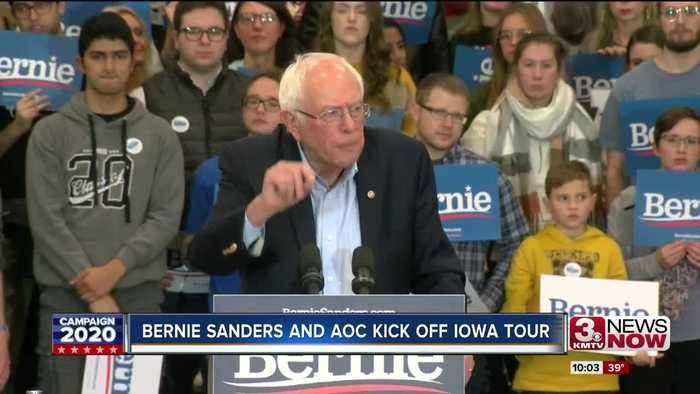 Bernie Sanders rallies in Council Bluffs