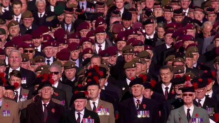 Queen leads Remembrance Day ceremony in London