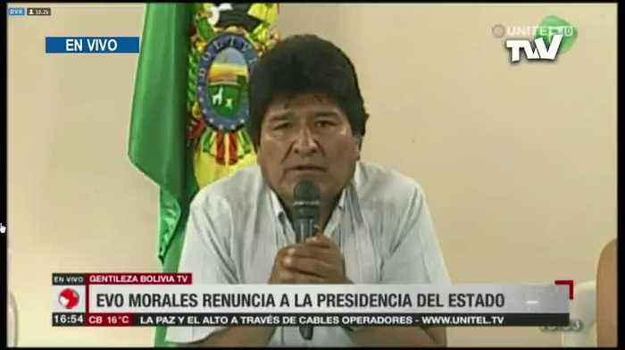 Evo Morales presentó su carta de renuncia