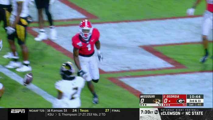 11/09/2019 Missouri vs Georgia Football Highlights