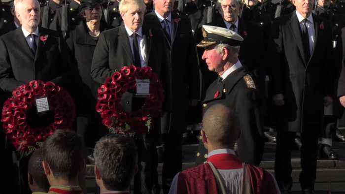The royal family lead tributes on Remembrance Sunday