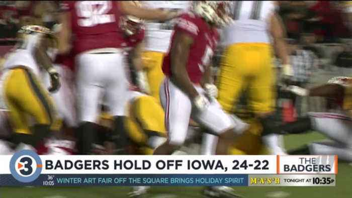 No. 13 Badgers snap skid in 24-22 win over No. 18 Iowa