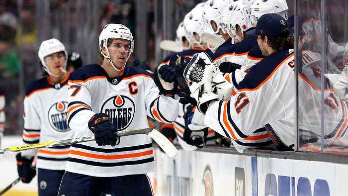 Connor McDavid scores to earn his 400th NHL point