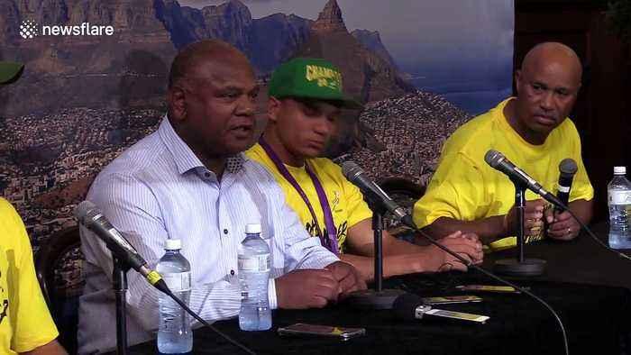 Cape Town mayor speaks alongside triumphant Springboks stars on their World Cup victory