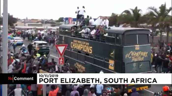 Triumphant Springboks return home to celebrate Rugby World Cup win