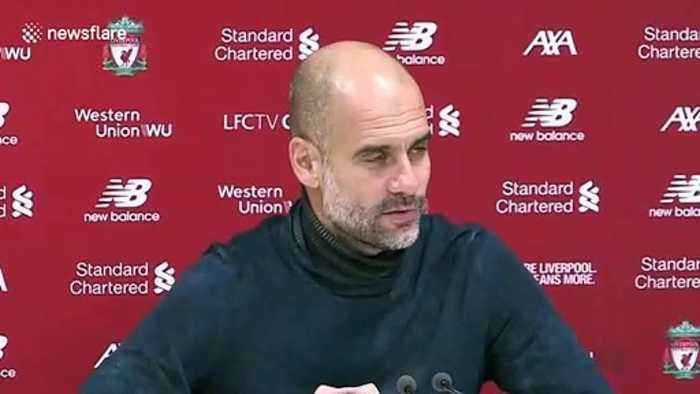 'It wasn't sarcastic' Pep Guardiola on VAR and Michael Oliver after crucial loss to Liverpool