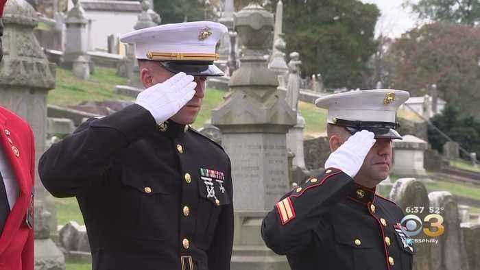 Active Members, Veterans Celebrate US Marine Corps' 244th Birthday In Philadelphia