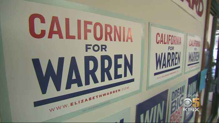 Elizabeth Warren's New Campaign Office Opens In Oakland