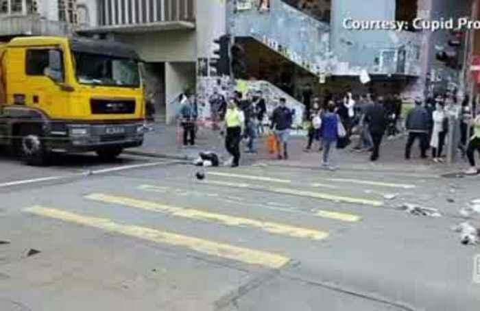 Hong Kong's violence dramatically escalates