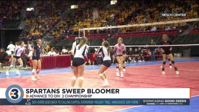 McFarland volleyball sweeps Bloomer, looks for first championship