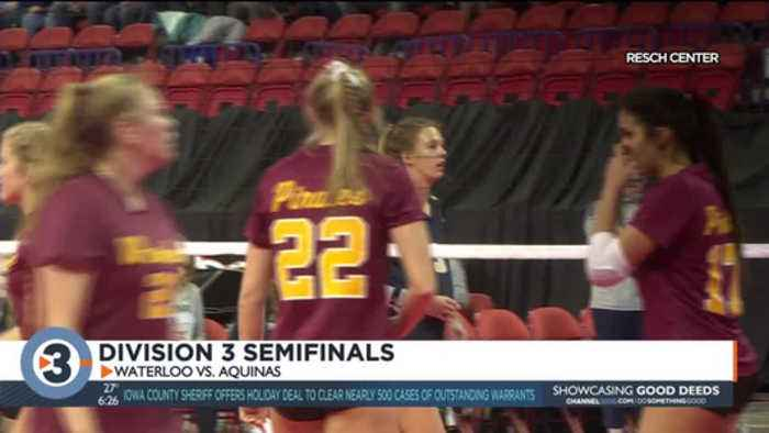 Waterloo volleyball loses in straight sets in state semifinal match