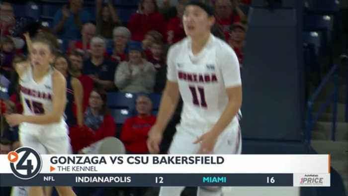 Gonzaga women pick up 44-pt win over CSU Bakersfield