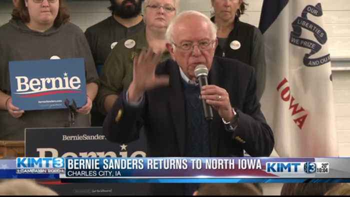 Bernie Sanders makes his way to North Iowa
