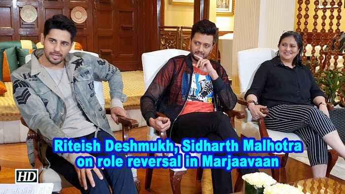 Riteish Deshmukh, Sidharth Malhotra on role reversal in Marjaavaan