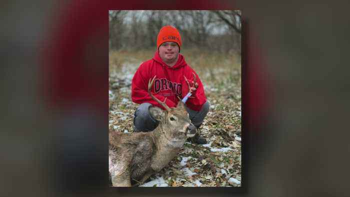 Young Hunter With Down Syndrome Bags 1st Buck