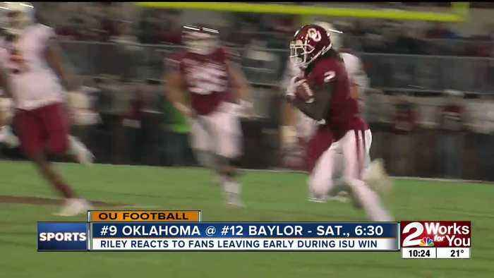 Lincoln Riley addresses Oklahoma fans leaving early during near-collapse in win vs. Iowa State