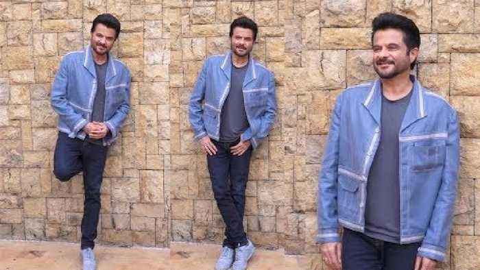 Anil Kapoor Spotted During Funny Photoshoot for PAGALPANTI Movie promotion At Jw Marriott